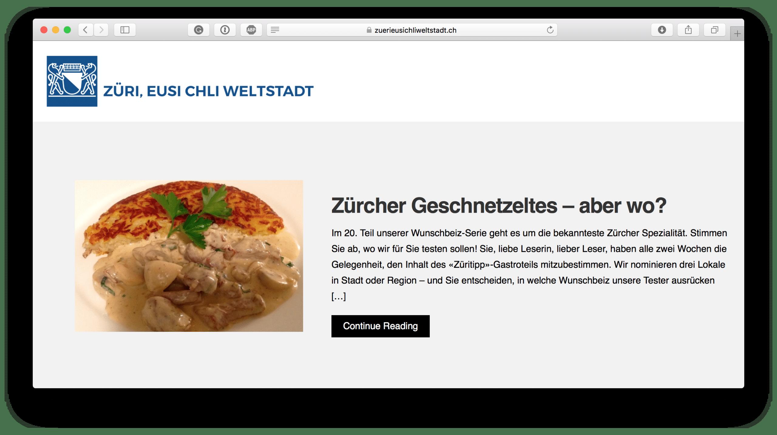 Züri, eusi chli Weltstadt